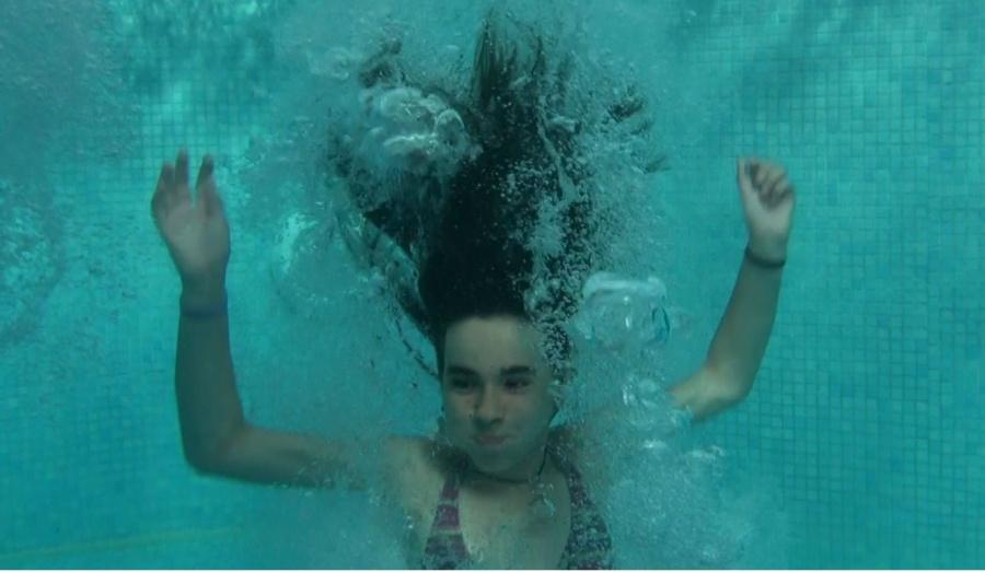 Truco para grabar a los niños bajo el agua