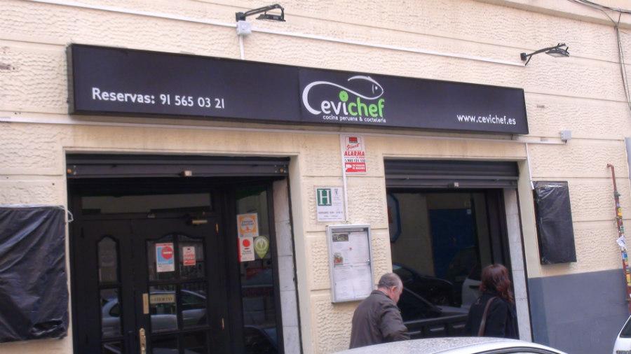 Fachada del restaurante Cevichef
