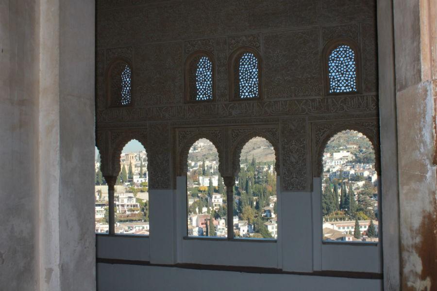Detalle de la decoración de la Alhambra