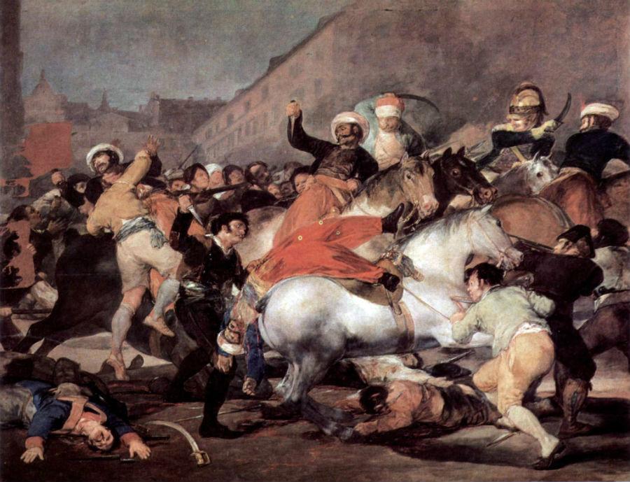 'La lucha con los mamelucos' o 'El 2 de mayo de 1808 en Madrid', de Goya