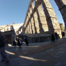 Vista del acueducto de Segovia