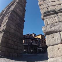 Detalle de los sillares del acueducto de Segovia