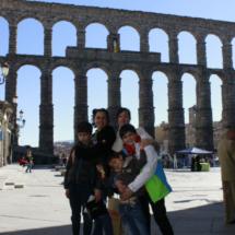 Visitamos el acueducto de Segovia en familia