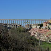 Vista de Segovia y su impresionante acueducto