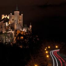 Vista nocturna del Alcázar de Segovia