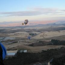 Globos aerostáticos sobre Segovia