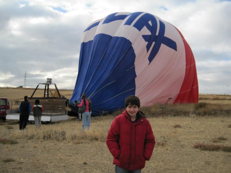 Preparando una excursión en globo