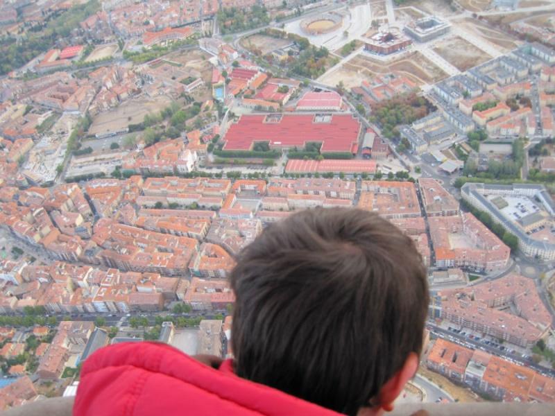 Vistas de Segovia desde un globo aerostático