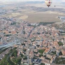 Segovia desde el cielo en un viaje en globo