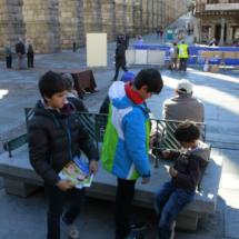 A los niños les gustó esta visita especial a la Oficina de Turismo de Segovia