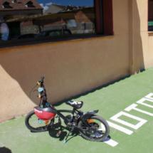 Parking del restaurante La Postal, en Segovia
