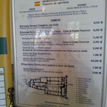 Tarifas para visitar el Alcázar de Segovia