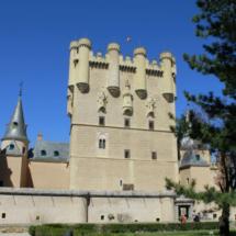 Vista de la torre de Juan II del Alcázar de Segovia
