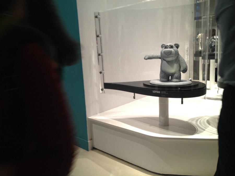 Detalle de la exposición de Pixar en Caixa Fórum
