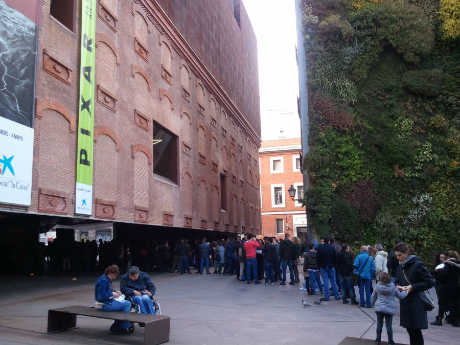 Edificio del Caixa Fórum de Madrid, con su jardín vertical