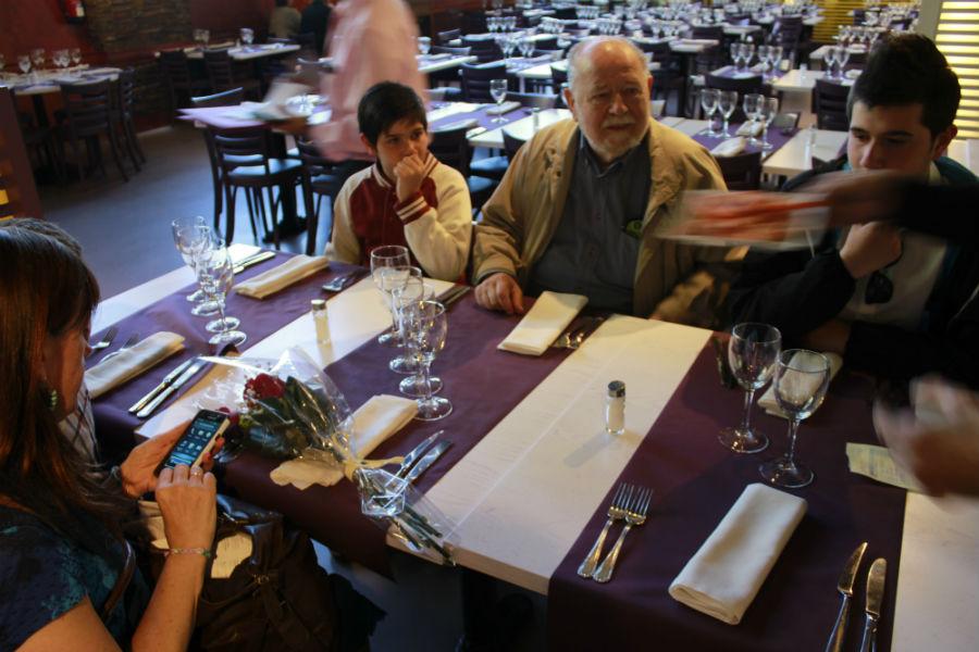 El ambiente de El Rodizio es familiar: amplio, luminoso y sencillo