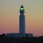 Puesta de sol junto al Faro de Trafalgar