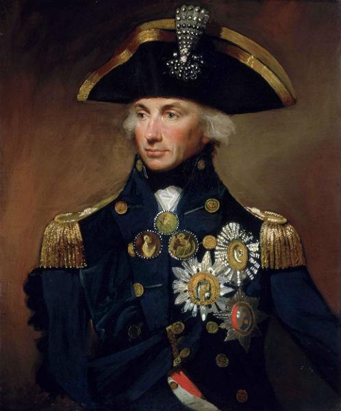 Horatio Nelson dirigía las tropas inglesas en la Batalla de Trafalgar