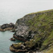 Ruta por los acantilados de Howth, en Irlanda, cerca de Dublín.