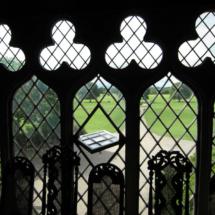 Vista de los jardines de Malahide desde el interior del castillo