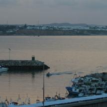 Vistas del puerto de Conil desde el Faro de Roche