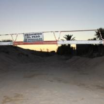 Para llegar a las dunas hay que hacerlo a pie