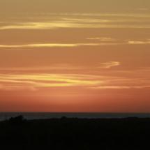Vista de la puesta de sol desde Trafalgar