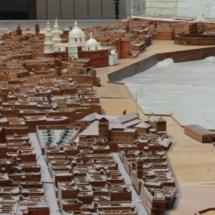 Maqueta de Cádiz en el Museo de las Cortes