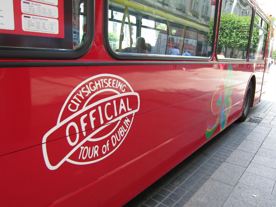 Autobús turístico de Citysightseeing, en Dublín.