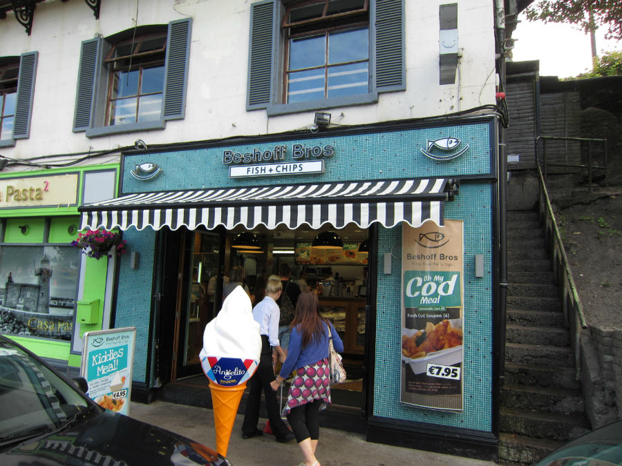 Beshoff Bros es un restaurante de fish and chips en Howth, cerca de Dublín