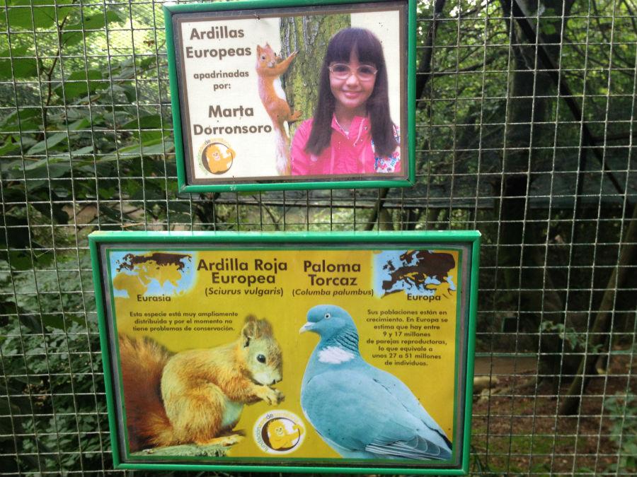 Los niños pueden apadrinar animales del Zoo de Santillana del Mar