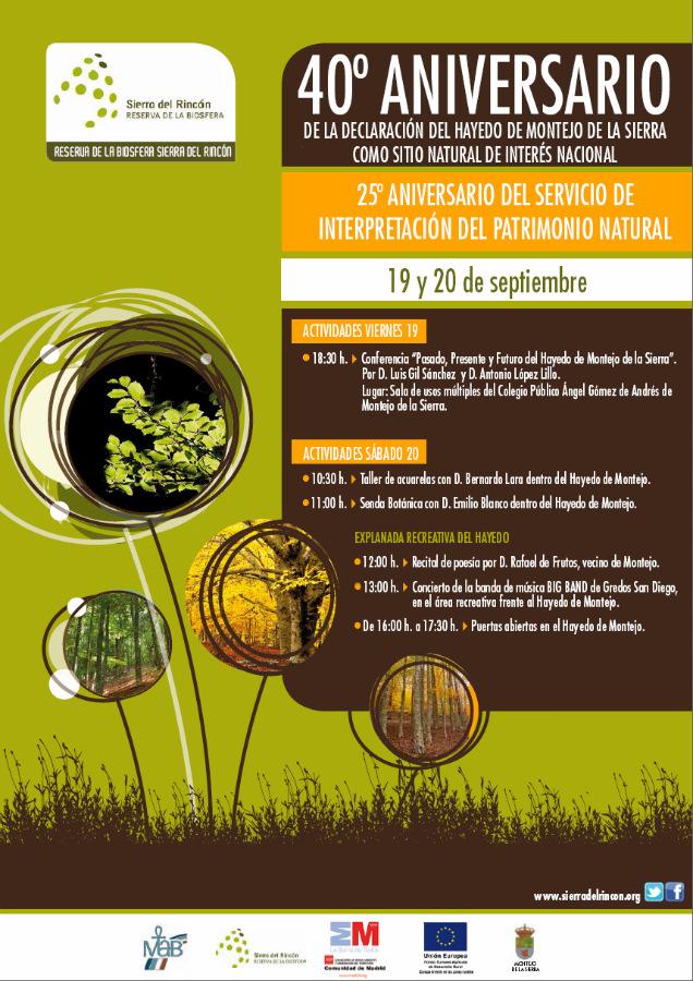 Actividades para la celebración del 40º aniversario de la declaración del Hayedo de Montejo como Sitio Natural de Interés Nacional