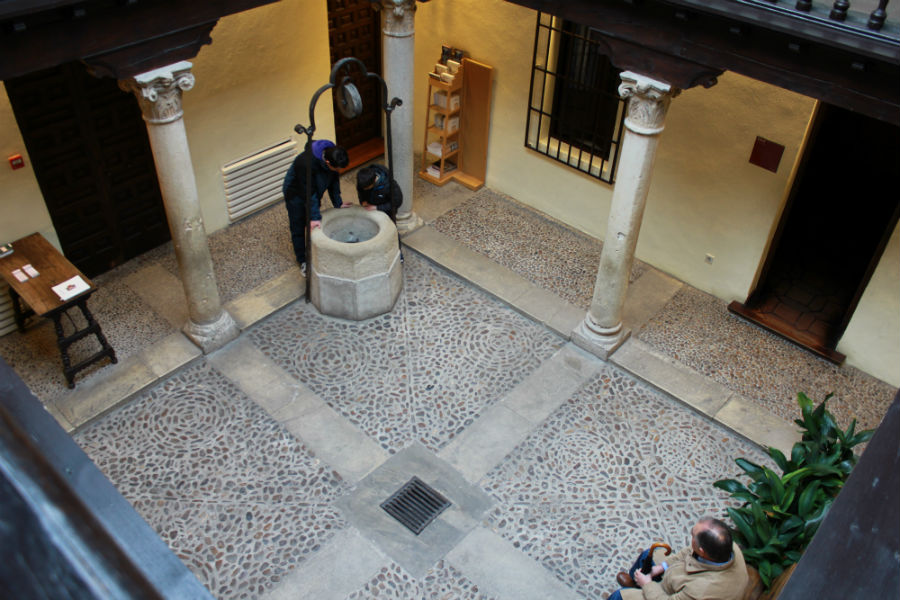 Patio interior de la Casa Natal de Cervantes