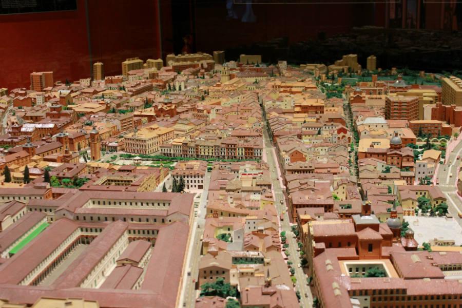 Maqueta de Alcalá de Henares, en la Universidad Complutense