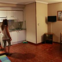 Salón comedor de un apartamento de El Capriccio