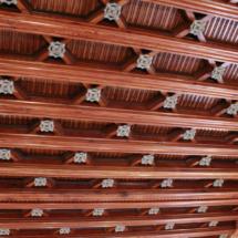 Detalle de uno de los techos de El Capricho de Gaudí, en Comillas