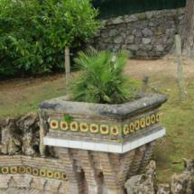 Detalle de los jardines de El Capricho de Gaudí, en Comillas