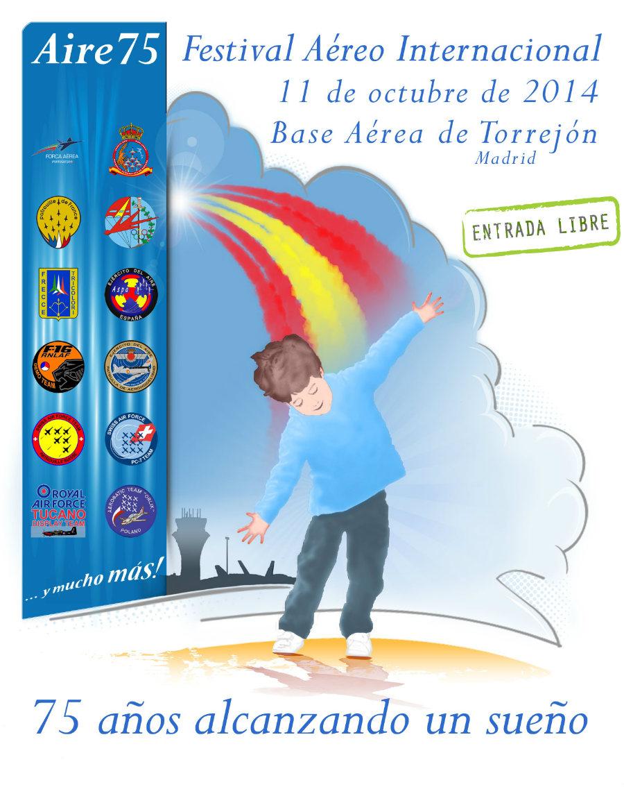 Cartel del Festival Aéreo Internacional Aire75