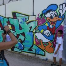 Graffiti en los alrededores de la Laguna del Campillo