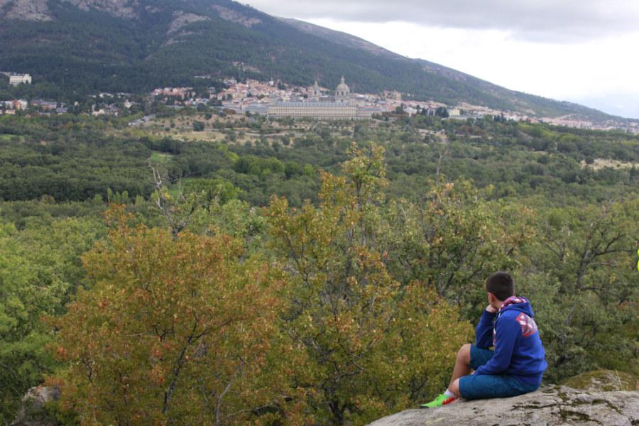 Vistas de El Escorial desde el Bosque de la Herrería