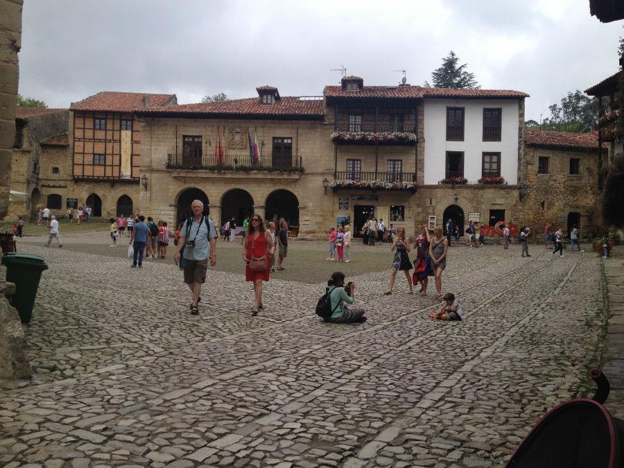 Plaza de Santillana del Mar, en Cantabria