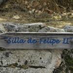 Indicación en la ruta de ascenso a la Silla de Felipe II