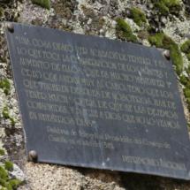 Inscripción en la Silla de Felipe II