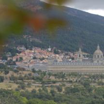 Vista de El Escorial desde la Silla de Felipe II