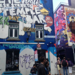 Graffiti de la zona del Temple Bar, en Dublín