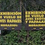 Cartel informativo del Zoo de Madrid