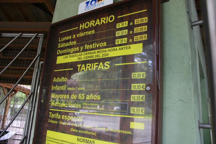 Horarios y tarifas del zoo de madrid - Horario oficina correos madrid ...