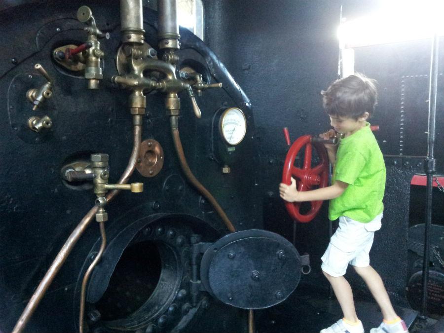 Visitamos el Museo del Ferrocarril de Madrid con los niños