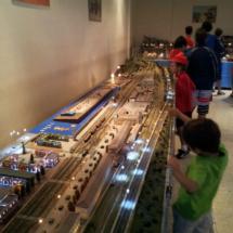Maqueta ferroviaria en el Museo del Ferrocarril