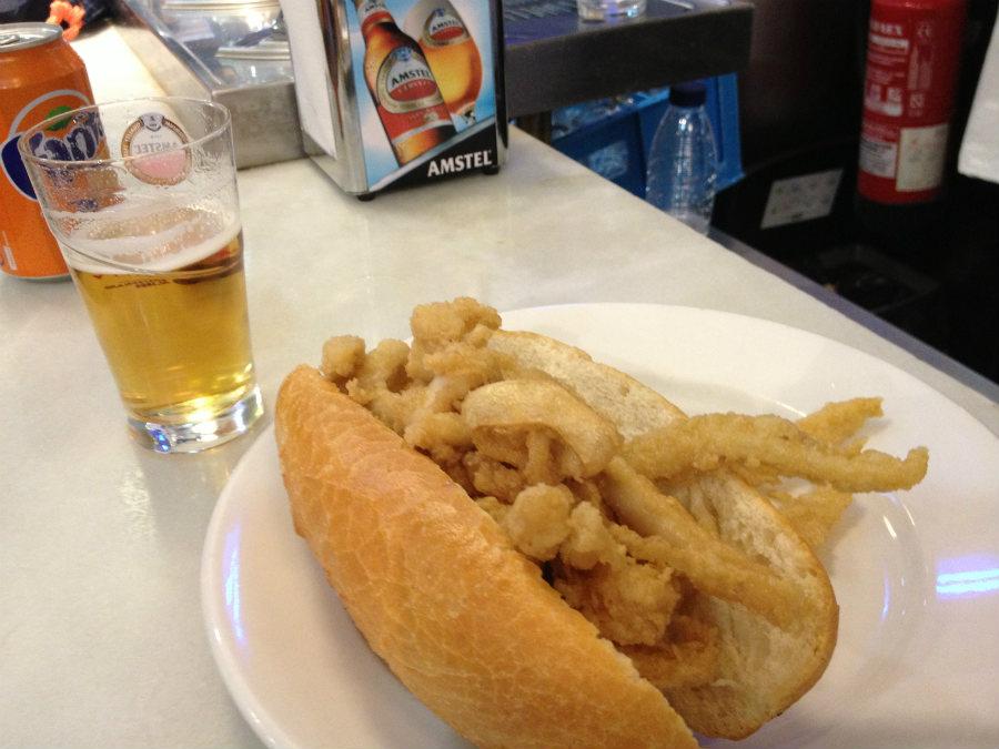 Dónde comer los mejores bocatas de calamares de Madrid